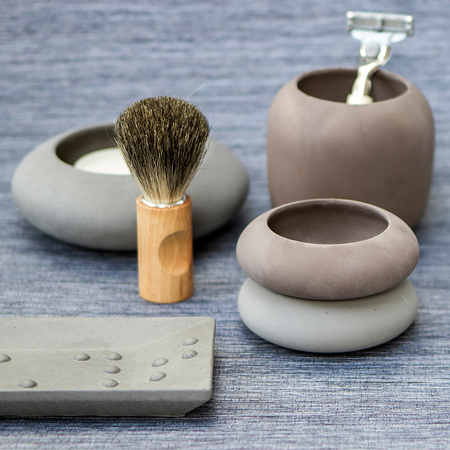 Grey rectangular soap dish 698887