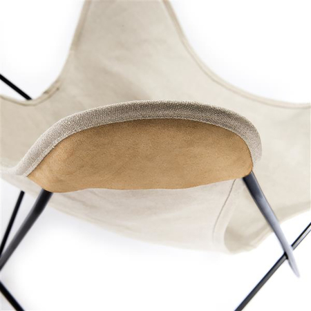 Butterfly Chair in Leinen