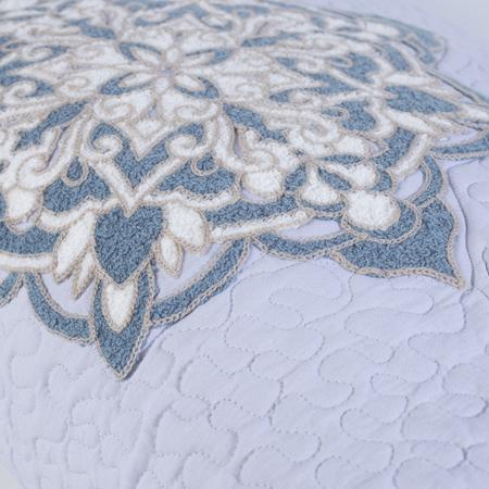 Quilt Suzani Stickerei Lavendel Bombaybirds