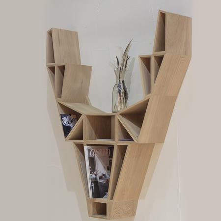 hirsch regal aus eiche. Black Bedroom Furniture Sets. Home Design Ideas