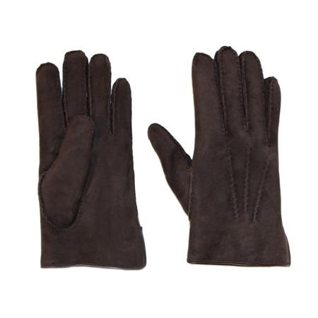 Fingerhandschuhe Männer Dunkelbraun 1