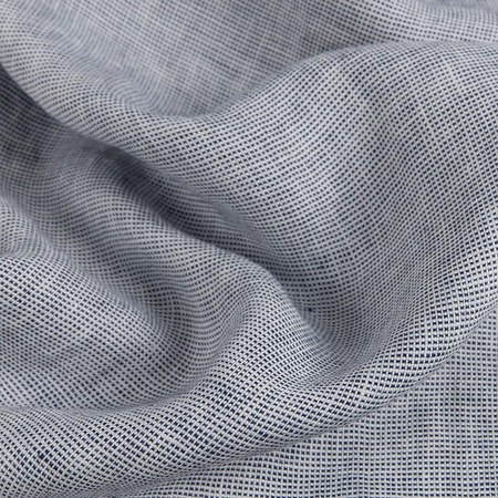 Natural linen bedding blue check linen duvet covers pillows yarn dyed 4
