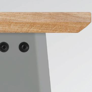 Tisch Plog Hellgrau Jan Cray
