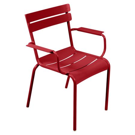 Fermob Luxembourg Stuhl Mohnrot 67 Stuhl mit Armlehnen