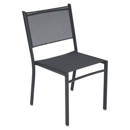 Fermob Stuhl Costa Anthrazit 47  ohne Armlehnen