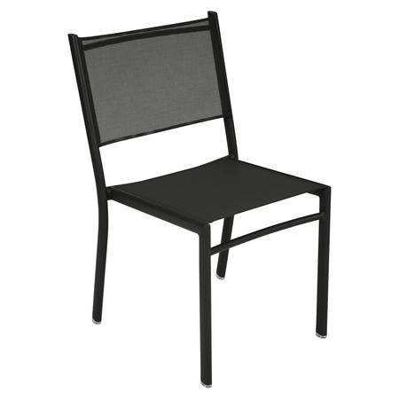 Fermob Stuhl Costa Lakritze / Schwarz 42 ohne Armlehnen