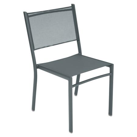 Fermob Stuhl Costa Gewittergrau 26 ohne Armlehnen