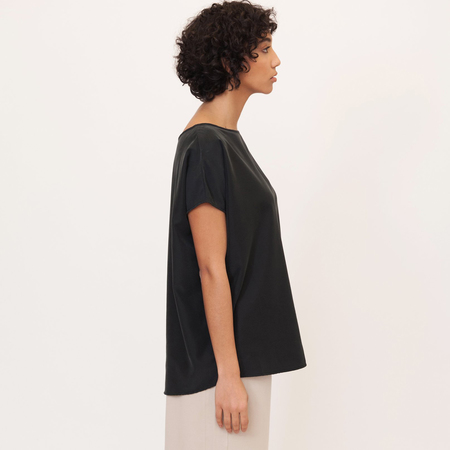 Aline beaumont organic modal top in black 3