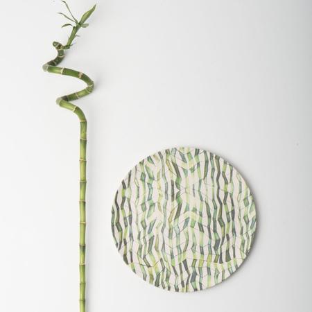 6er Set Bambus Teller Mit Print