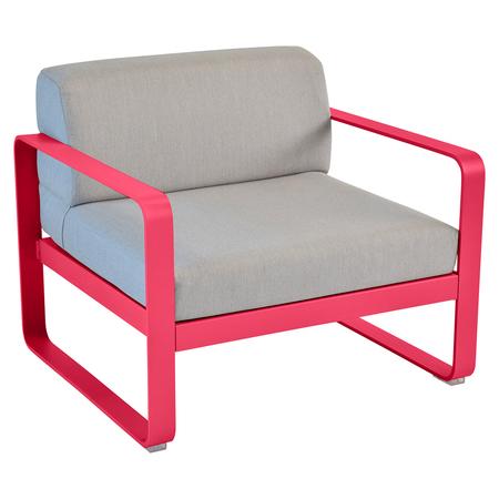 263 93 rose praline fauteuil gris flanelle