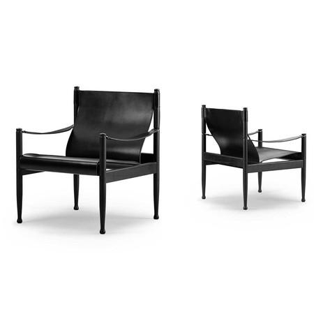 0004 safari chair 61x61 cm oak black lacquered saddle 10 2 613575