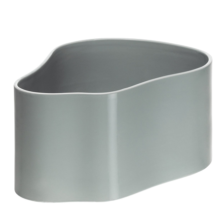 Artek aalto riihitie plant pot shape a small light grey gloss jpg
