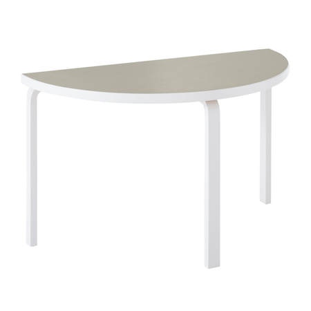Aalto table half round 95 stone white lacquer pebble linoleum web 1903396