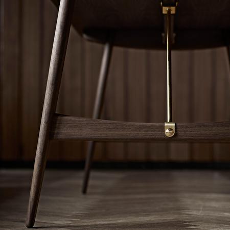 Hunting table mogensen bm 1160 walnut detail 1 h