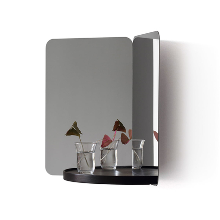 Artek 124 grad mirror mit ablage schwarz esche frei