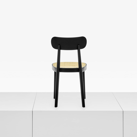 Holzstuhl 39 118 39 mit geflecht for Thonet stuhl schwarz