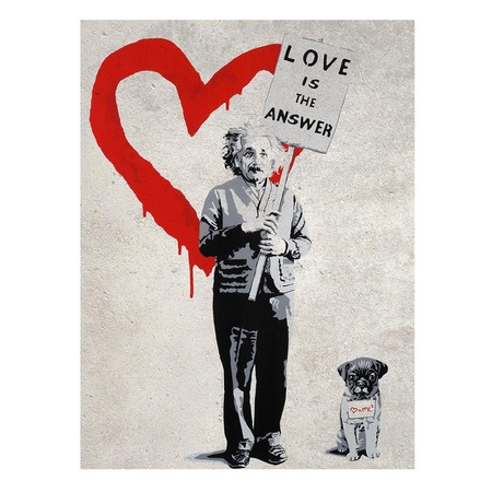 poster 39 love is the answer 39 von banksy. Black Bedroom Furniture Sets. Home Design Ideas