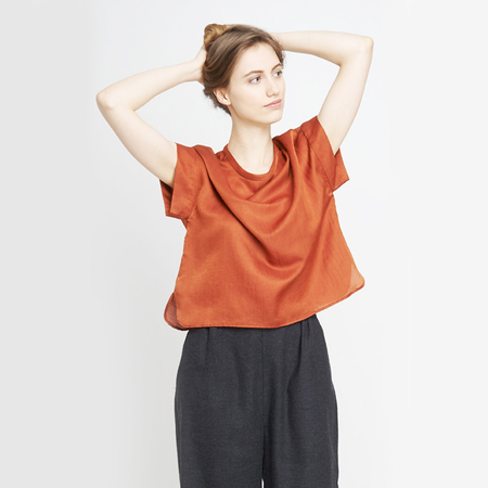 Jf aw18 lookbook emily shirt ochre charlotte trousers black 1