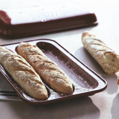 I grande 29686 moule 3 baguettes en ceramique grand cru emile henry.net