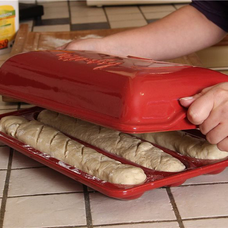I grande 26436 moule 3 baguettes en ceramique grand cru emile henry.net