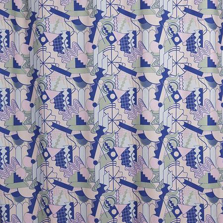 Cotton shower curtains pomo artist cotton shower curtain waterproof by sophie probst 3 1024x1024