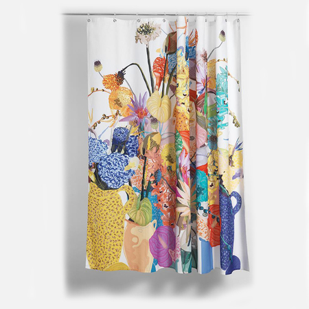 Cotton shower curtains blossom artist cotton shower curtain waterproof by sophie probst 2 1024x1024