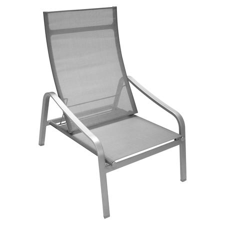 Fermob Tiefer Sessel Alizé  Metallgrau / Silber 38