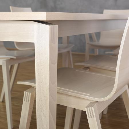 Tisch Stockholm Buche Ton