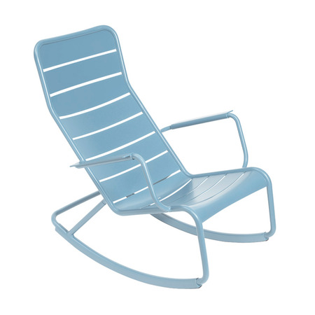 Rocking chair luxembourg fermob bleu fjord