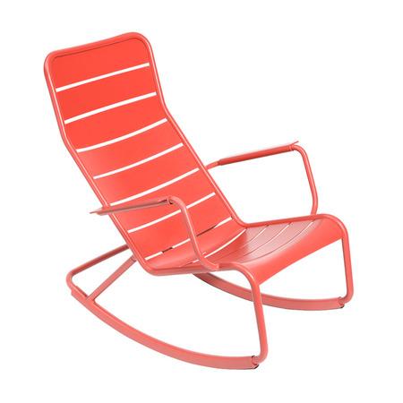 Rocking chair luxembourg fermob orange capucine