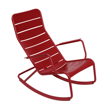 Rocking chair luxembourg fermob rouge piment