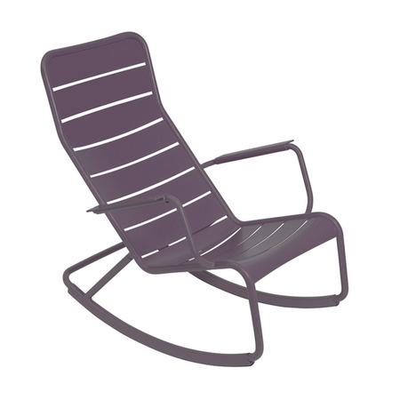 Rocking chair luxembourg fermob violet prune