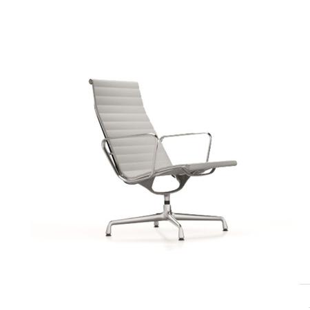 Stuhl Eames Aluminium EA 116 Leder VItra