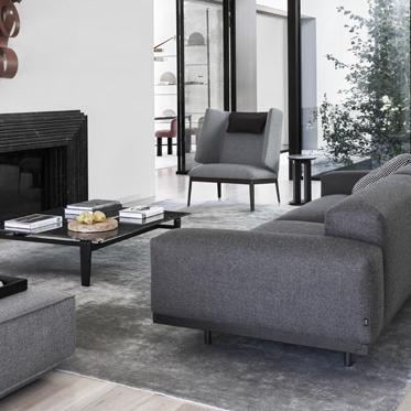 Klassisches Sofa Naviglio in Stoff