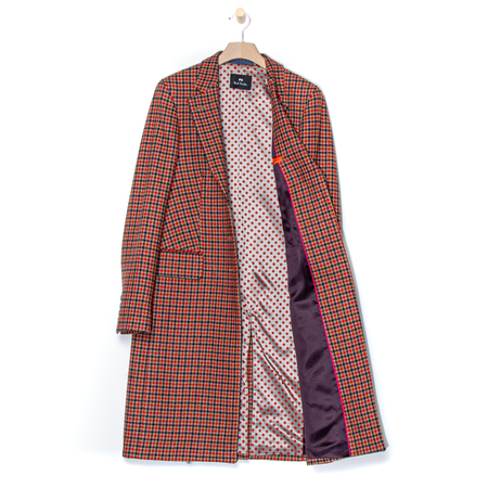 Mantel Rot Kariert PS by Paul Smith