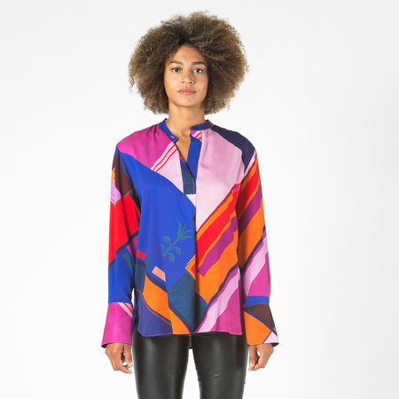 Bluse Flag Print PS by Paul Smith
