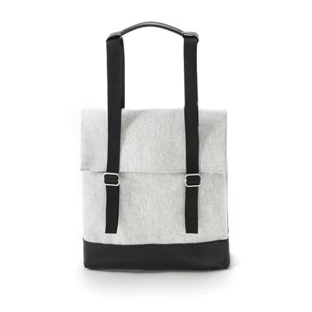 Qwstion Small Tote Raw Blend Leather Canvas Tasche