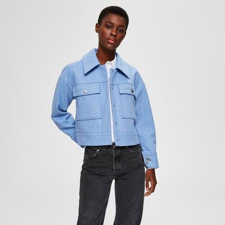 Nachhaltige Jacke in Hellblau Selected Femme