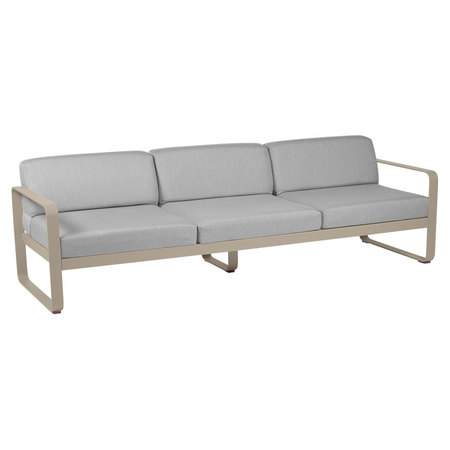 Fermob Outdoor 3-Sitzer Sofa 'Bellevie'  Muskat 14,  Flanellgrau