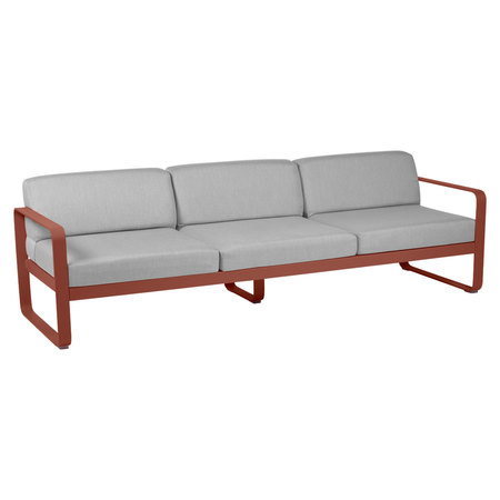 Fermob Outdoor 3-Sitzer Sofa 'Bellevie'  Ockerrot 20,  Flanellgrau