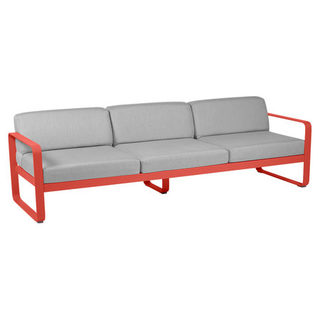 Fermob Outdoor 3-Sitzer Sofa 'Bellevie'  Capucine 45,  Flanellgrau