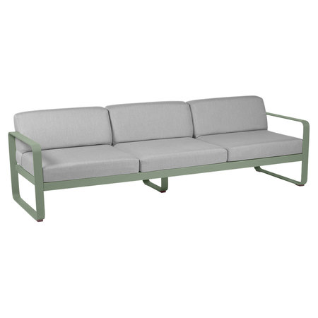 Fermob Outdoor 3-Sitzer Sofa 'Bellevie'  Kaktus 82,  Flanellgrau