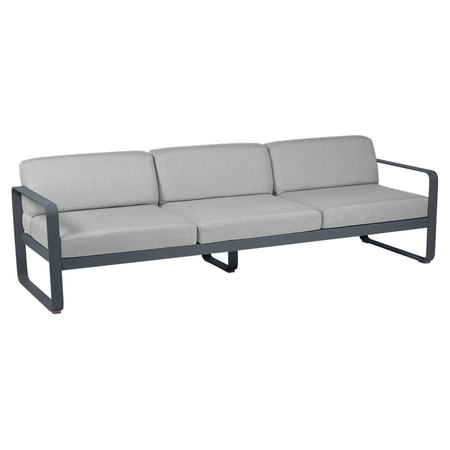 Fermob Outdoor 3-Sitzer Sofa 'Bellevie'  Anthrazit 47,  Flanellgrau
