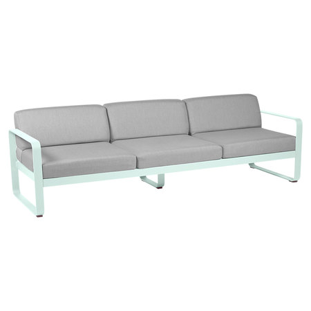 Fermob Outdoor 3-Sitzer Sofa 'Bellevie'  Gletscherminze A7	,  Flanellgrau