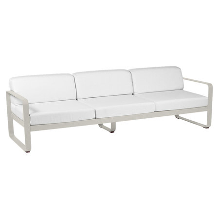 Fermob Outdoor 3-Sitzer Sofa 'Bellevie'  Lehmgrau A5	,  Grauweiss