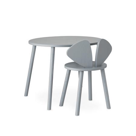 Kindertisch mit Stuhl Mouse School Set von Nofred