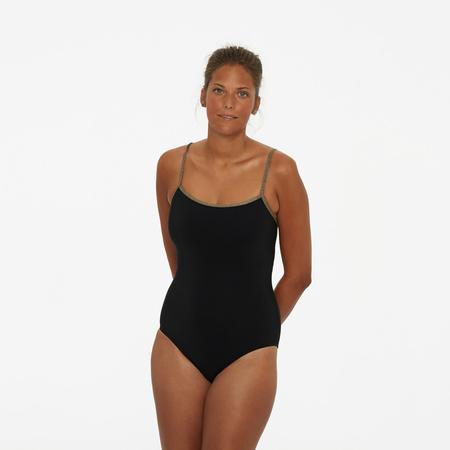 Der perfekte schwarze Badeanzug mit Lurex