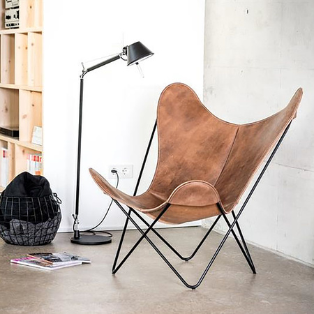 Butterfly Chair Vintageleder Manufakturplus