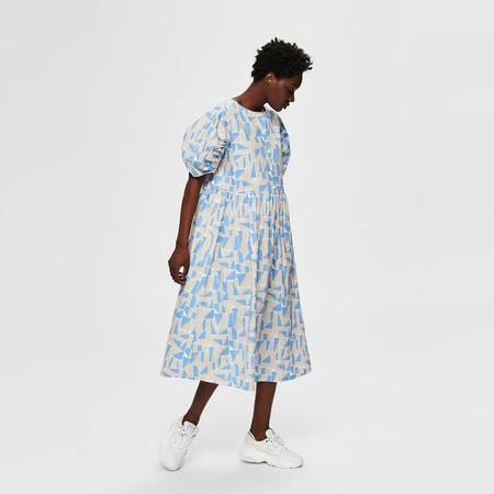 Baumwoll-Kleid mit grafischem Print