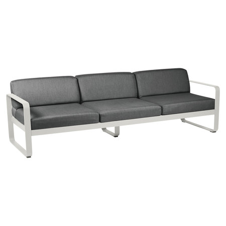 Fermob Outdoor 3-Sitzer Sofa 'Bellevie'  Lehmgrau A5 Graphitgrau